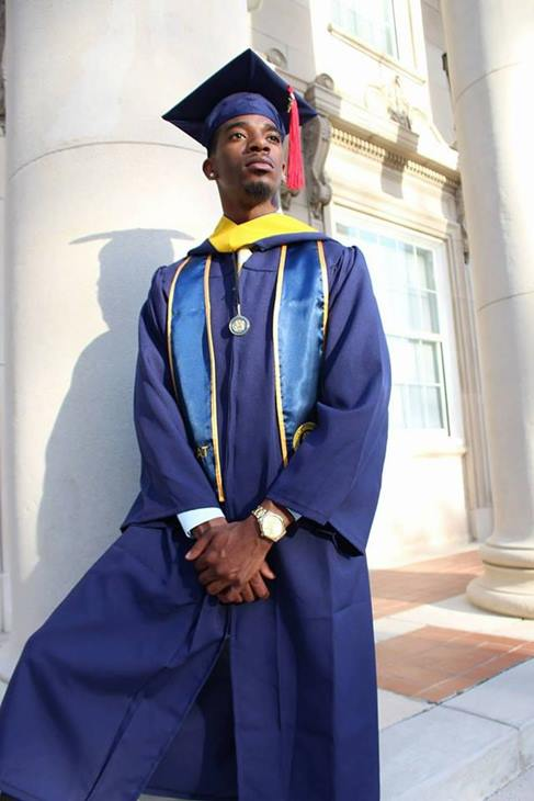 "<div class=""meta image-caption""><div class=""origin-logo origin-image none""><span>none</span></div><span class=""caption-text"">Erick. R. Shaw graduating from NC A&T State University. (Katrina Shaw)</span></div>"
