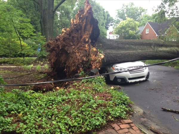 A quick line of thunderstorms caused some problems around the Triangle. Parts of Durham were among the hardest hit. <span class=meta>WTVD Photo/ I-Witness Photo</span>