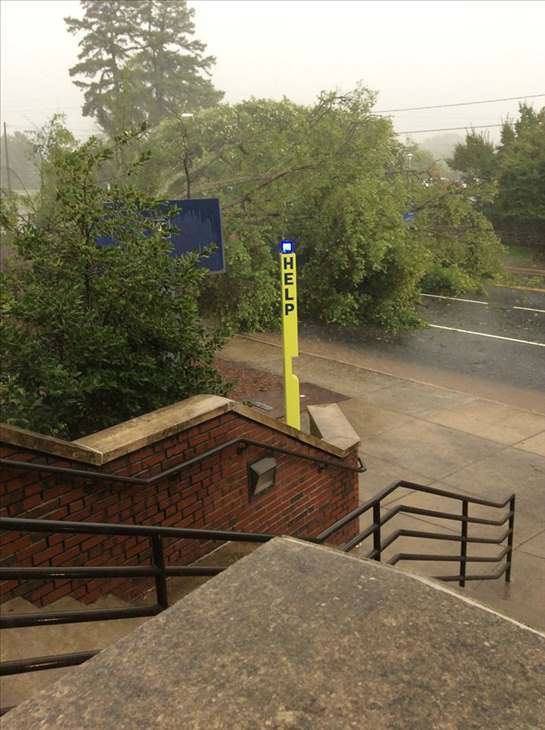 <div class='meta'><div class='origin-logo' data-origin='none'></div><span class='caption-text' data-credit='WTVD Photo/Charlotte Fleming'>A quick line of thunderstorms caused some problems around the Triangle. Parts of Durham were among the hardest hit.</span></div>