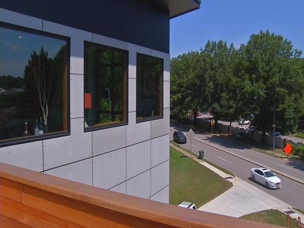 <div class='meta'><div class='origin-logo' data-origin='WTVD'></div><span class='caption-text' data-credit=''>Take a look inside this concrete and wood-covered modern home on Wade Avenue heading to downtown Raleigh, just before Capital Boulevard.</span></div>