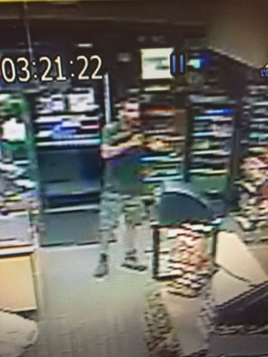 <div class='meta'><div class='origin-logo' data-origin='none'></div><span class='caption-text' data-credit='image courtesy Cumberland County Sheriff's Office'>Photos of an armed robbery suspect at a Kangaroo store on Gillespie Street in Fayetteville</span></div>