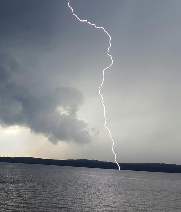 <div class='meta'><div class='origin-logo' data-origin='WTVD'></div><span class='caption-text' data-credit='Kendra Arrowood/ABC11 Eyewitness'>Amazing shot of lightning at Jordan Lake.</span></div>