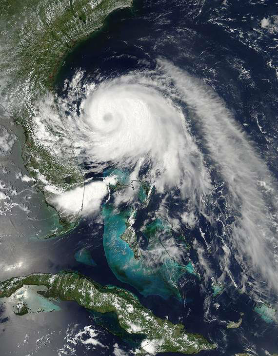 @NASA: Tropical Storm #Arthur churns in the Atlantic off Florida&#39;s northeast coast.  <span class=meta>(NASA)</span>