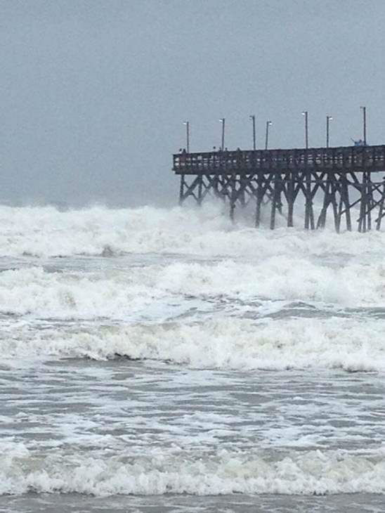 &#34;Hurricane&#39;s here at OIB&#34; <span class=meta>(ABC11 iWitness Photo)</span>