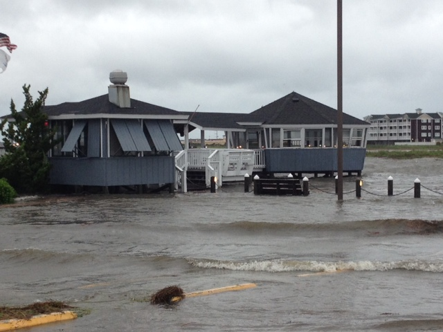 Sound-side flooding at Nags Head <span class=meta>ABC11 Photo/Tommy Harris</span>