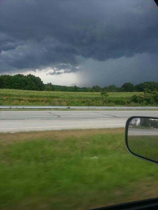 <div class='meta'><div class='origin-logo' data-origin='none'></div><span class='caption-text' data-credit='WTVD Photo/ I-Witness photo'>Storms ahead of a strong cold front made for a wet commute Tuesday evening.</span></div>