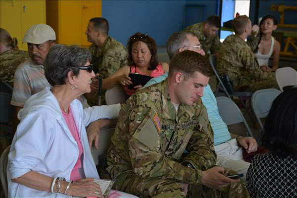 <div class='meta'><div class='origin-logo' data-origin='none'></div><span class='caption-text' data-credit='WTVD Photo'>Dozens of Fort Bragg paratroopers who were supposed to leave North Carolina last week finally deployed Thursday.</span></div>