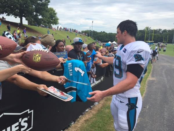 <div class='meta'><div class='origin-logo' data-origin='none'></div><span class='caption-text' data-credit='ABC11 Photojournalist/Charlie Mickens'>Pictures from the Panthers training camp</span></div>