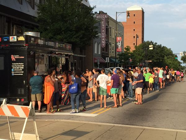 """<div class=""""meta image-caption""""><div class=""""origin-logo origin-image wtvd""""><span>WTVD</span></div><span class=""""caption-text"""">Photos from the food truck rodeo in downtown Raleigh, Sunday, August 7, 2016 (ABC11/Liz Horton)</span></div>"""