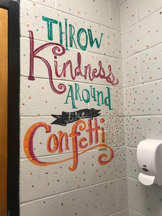 <div class='meta'><div class='origin-logo' data-origin='WTVD'></div><span class='caption-text' data-credit=''>Cool school bathroom in Fayetteville bears positive messages.</span></div>