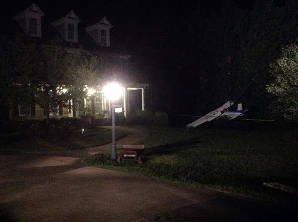 A pilot of a small plane is in the hospital after crashing in a Granville County neighborhood late Thursday night. <span class=meta></span>