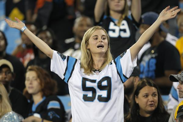 "<div class=""meta image-caption""><div class=""origin-logo origin-image ap""><span>AP</span></div><span class=""caption-text"">This Panthers fan is in midseason form Thursday night. (Mike McCarn)</span></div>"