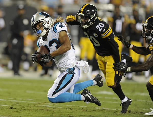 "<div class=""meta image-caption""><div class=""origin-logo origin-image ap""><span>AP</span></div><span class=""caption-text"">Carolina Panthers' Kaelin Clay (83) makes a spectacular catch against the Pittsburgh Steelers' Cameron Sutton. (Mike McCarn)</span></div>"