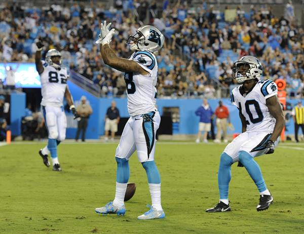 "<div class=""meta image-caption""><div class=""origin-logo origin-image ap""><span>AP</span></div><span class=""caption-text"">Carolina Panthers' Damiere Byrd (18), one of the preseason's breakout stars, celebrates a touchdown catch. (Mike McCarn)</span></div>"