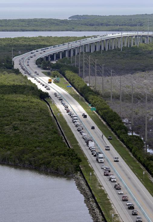 "<div class=""meta image-caption""><div class=""origin-logo origin-image ap""><span>AP</span></div><span class=""caption-text"">Motorists head north on US 1, Wednesday, Sept. 6, 2017, in Key Largo, Fla., in anticipation of Hurricane Irma. Keys officials announced a mandatory evacuation for visitors. (Alan Diaz)</span></div>"