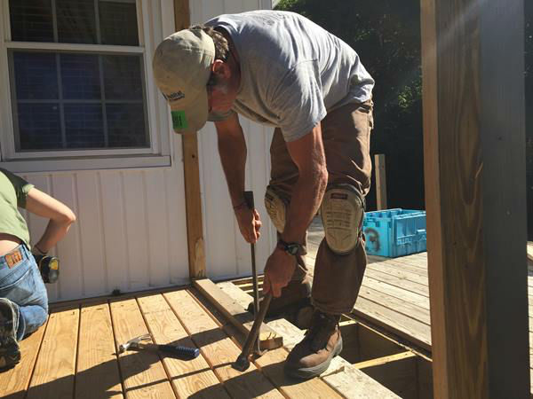 <div class='meta'><div class='origin-logo' data-origin='none'></div><span class='caption-text' data-credit='WTVD Photo'>Mary is getting a new screened in porch and deck thanks to the Remodelers Council</span></div>