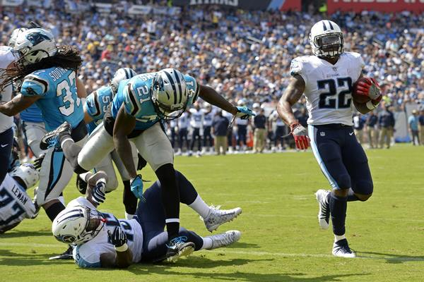 "<div class=""meta image-caption""><div class=""origin-logo origin-image ap""><span>AP</span></div><span class=""caption-text"">Derrick Henry proved a tough tackle for the Panthers' defense. (Mark Zaleski)</span></div>"