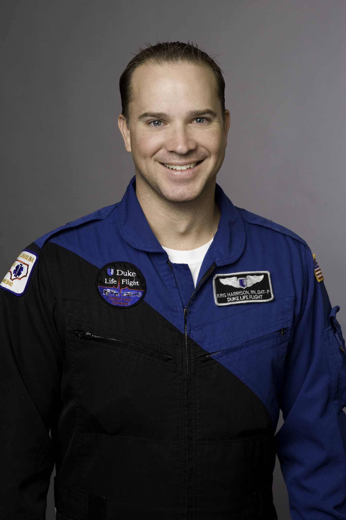 <div class='meta'><div class='origin-logo' data-origin='none'></div><span class='caption-text' data-credit='image courtesy Duke University'>Flight nurse Kris Harrison</span></div>