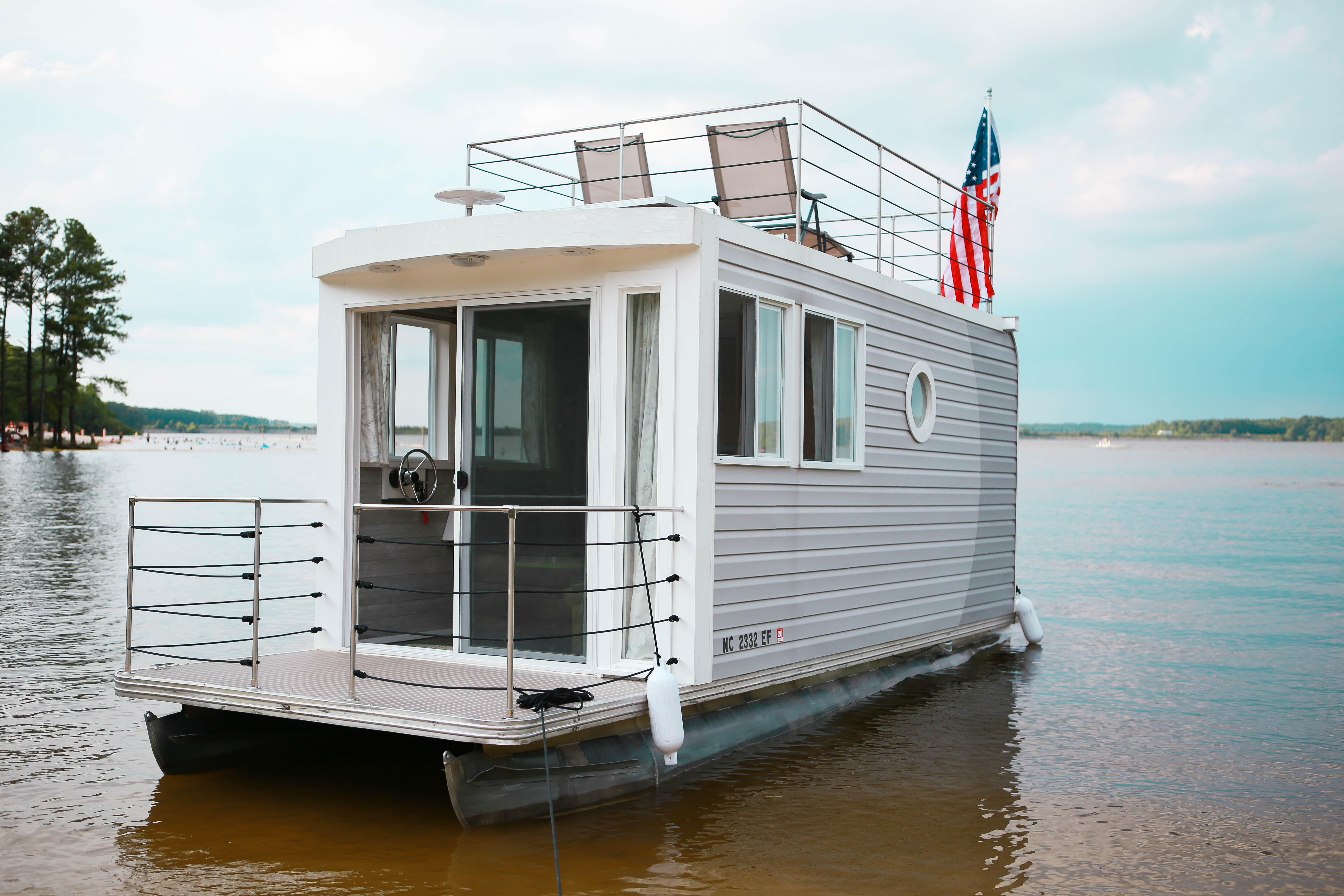Charming PHOTOS: Meet Untucked, A Tiny Houseboat On Jordan Lake