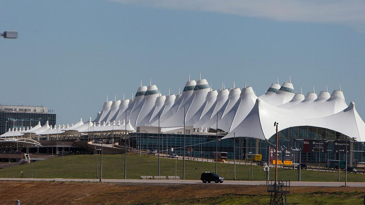 The main terminal building Denver International Airport.