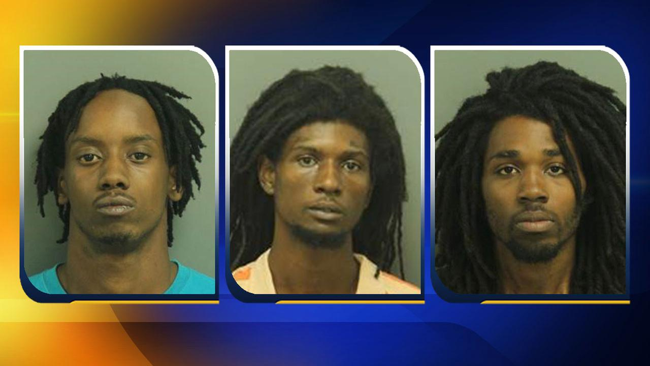 Deeshone Lamont Jamal Gilmore (left), Anthony Craven Webster (center), Tyshad Jabar Lawson (right)