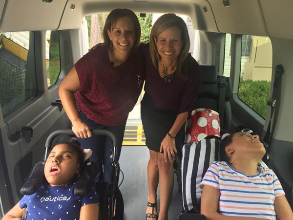 <div class='meta'><div class='origin-logo' data-origin='WTVD'></div><span class='caption-text' data-credit=''>Ursula Thompson and her daughters in their new van</span></div>