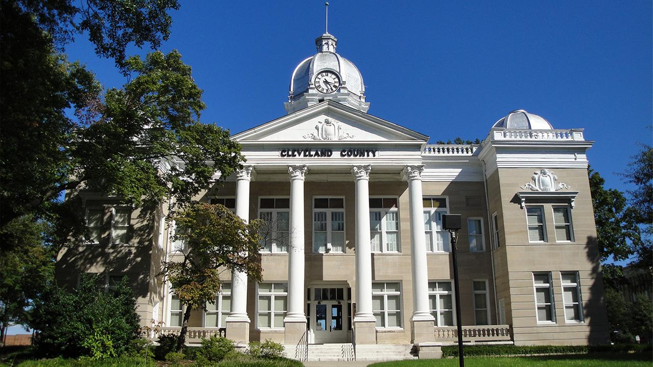 The old Cleveland County Courthouse in Shelby, North Carolina.