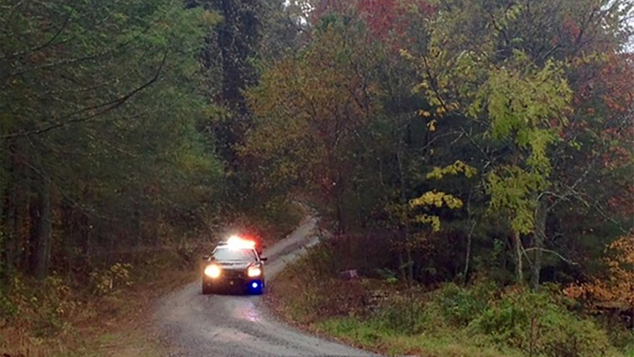 Henderson County sheriffs deputies respond to a shooting call at 158 Golden Eagle Way, Monday, October 26, 2015.