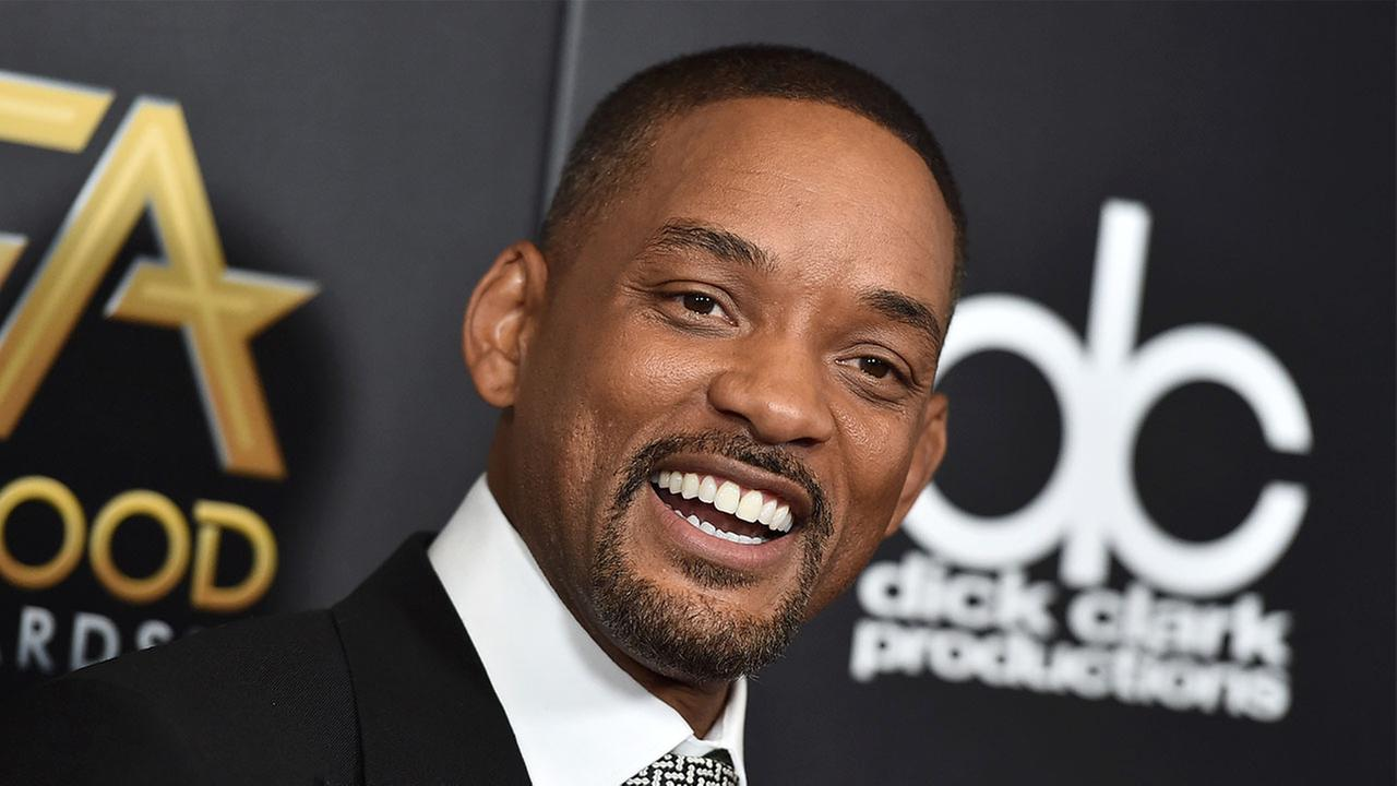 Will Smith arrives at the Hollywood Film Awards in Beverly Hills on Sunday Nov. 1, 2015.