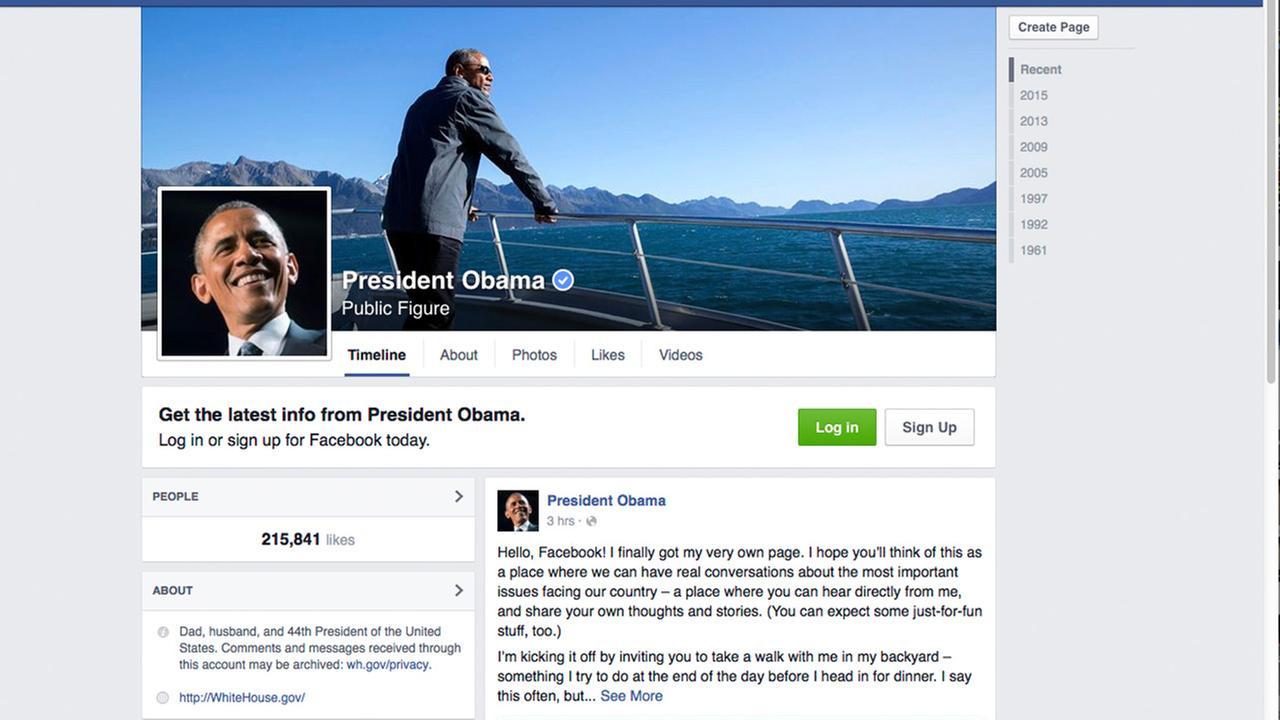 The screen image from Facebook.com shows the Facebook page of ...