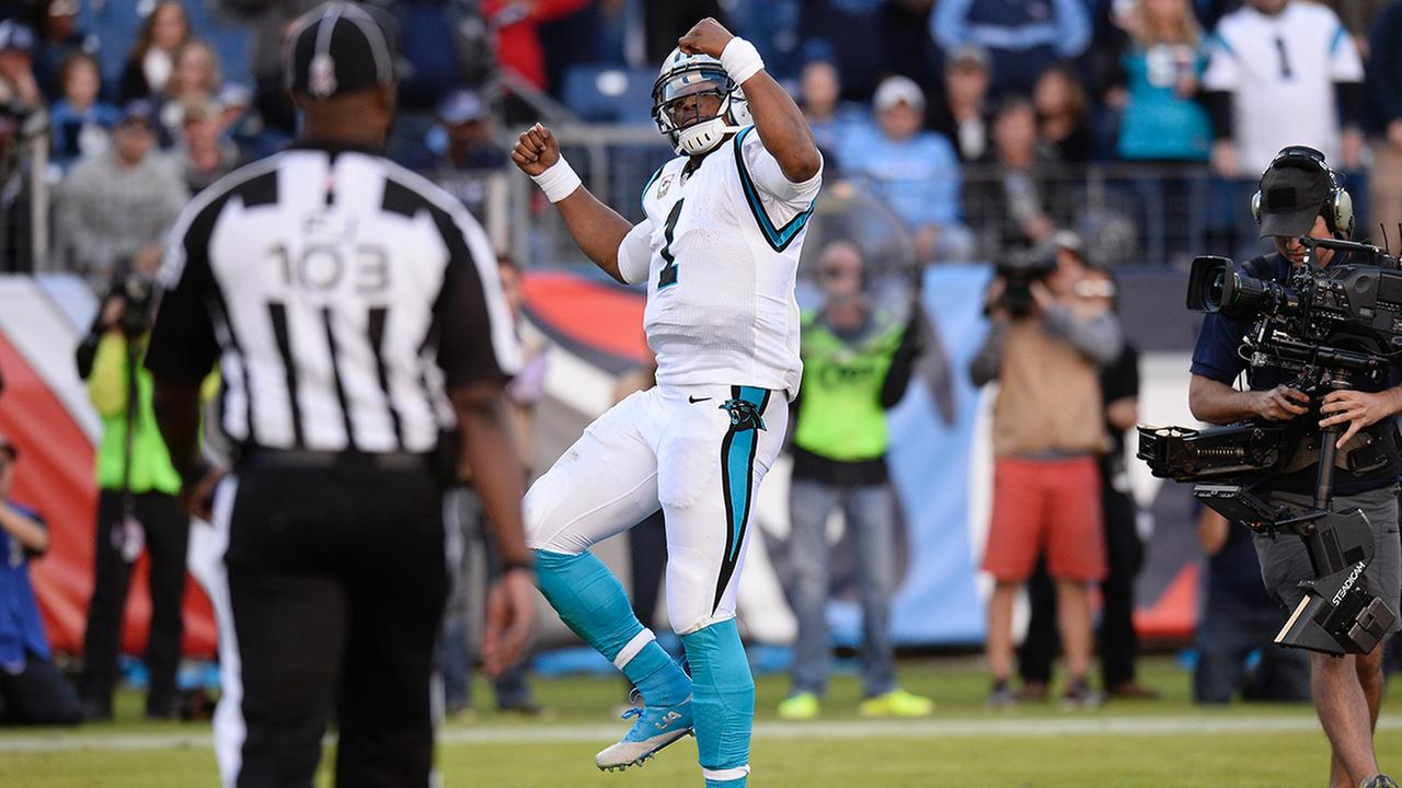 Carolina Panthers quarterback Cam Newton dances after scoring a touchdown against the Tennessee Titans in the second half of an NFL football game Sunday, Nov. 15, 2015Mark Zaleski