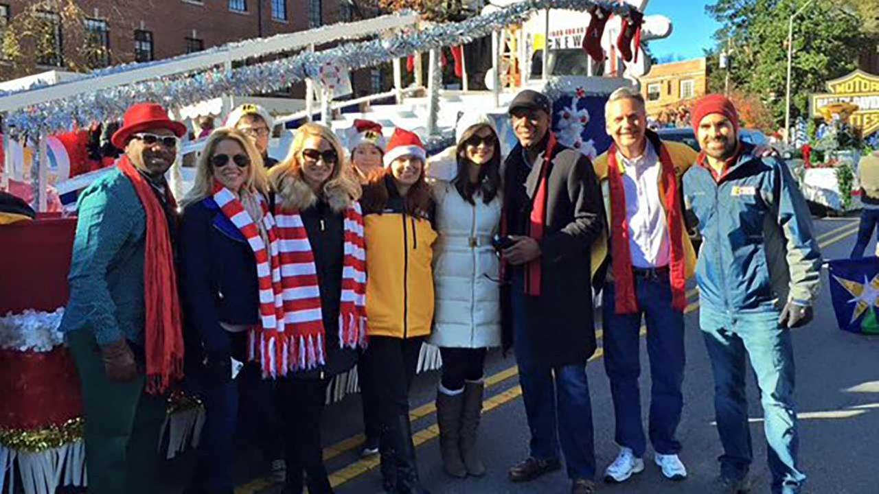 ABC11 at the Raleigh Christmas Parade
