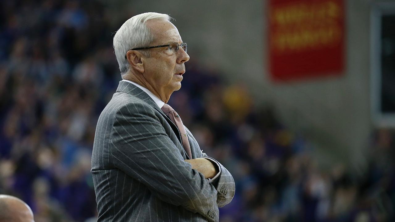 North Carolina head coach Roy Williams looks on during the second half of an NCAA college basketball game against Northern Iowa, Saturday, Nov. 21, 2015