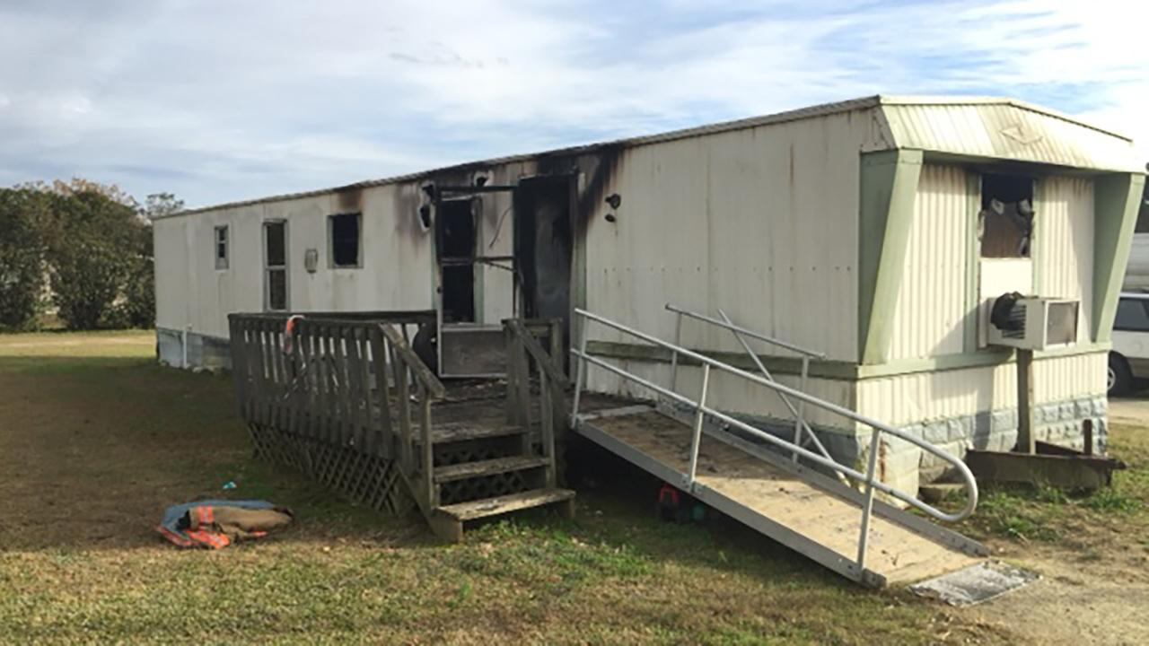 fire tears through mobile home in selma