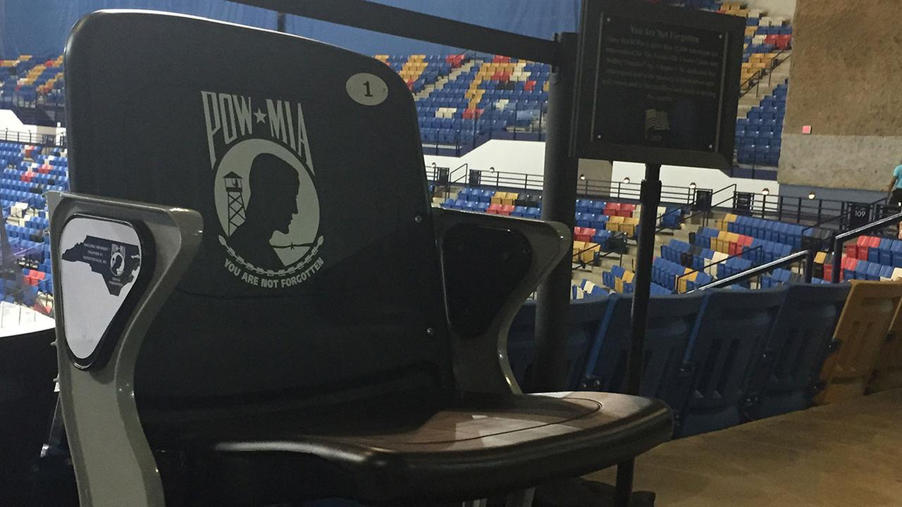 POW-MIA Chair of Honor inside Fayettevilles Crown Complex