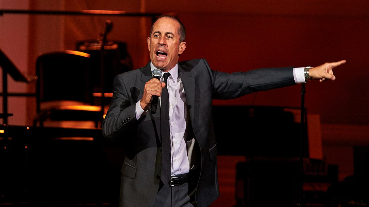 Jerry Seinfeld performing at the David Lynch Foundation Benefit Concert at Carnegie Hall on Nov. 4, 2015.