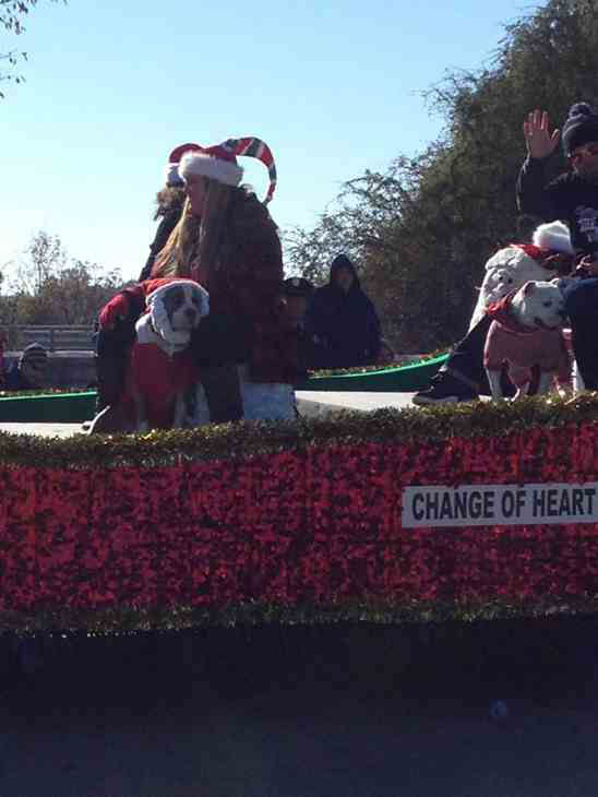 ... ABC11 Eyewitness News float in Saturday's Raleigh Christmas Parade