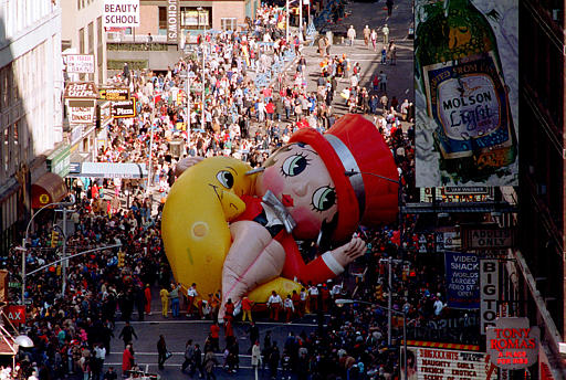 "<div class=""meta image-caption""><div class=""origin-logo origin-image ap""><span>AP</span></div><span class=""caption-text"">Betty Boop collapses on Broadway near 49th Street during the Macy's Thanksgiving Day Parade in New York City, Thursday, Nov. 27, 1986.</span></div>"