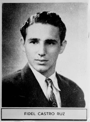 <div class='meta'><div class='origin-logo' data-origin='none'></div><span class='caption-text' data-credit=''>Fidel Castro in his 1945  high school yearbook (AP photo)</span></div>