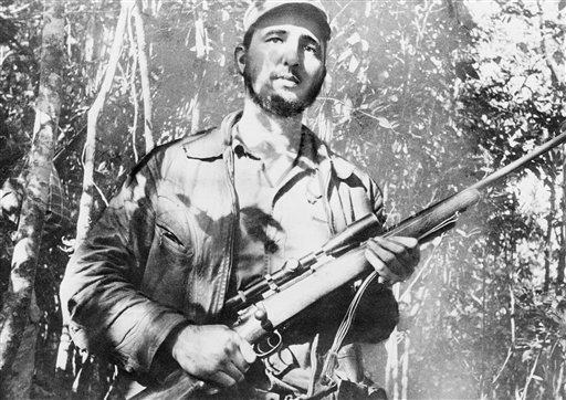 <div class='meta'><div class='origin-logo' data-origin='none'></div><span class='caption-text' data-credit=''>Fidel Castro, leader of a  continuing revolt against president Fulgencio Batista and his regime on Sept. 10, 1957. (AP Photo/Andrew St. George)</span></div>