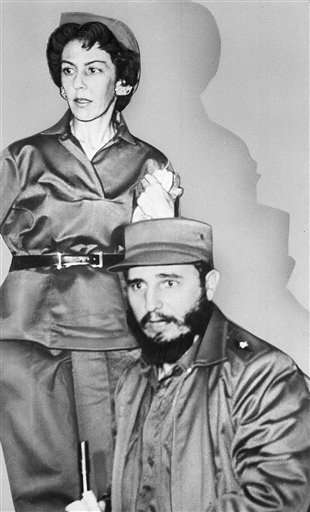 <div class='meta'><div class='origin-logo' data-origin='none'></div><span class='caption-text' data-credit=''>Cuban leader Fidel Castro is shown with his almost constant companion and private secretary Celia Sanchez,  shown 1960.  (AP Photo)</span></div>