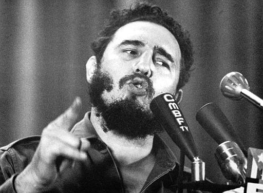 <div class='meta'><div class='origin-logo' data-origin='none'></div><span class='caption-text' data-credit=''>Cuban Prime Minister Fidel Castro speaks on the eve of the military trial of more than a hundred insurgents on Wednesday Oct. 10, 1960 in Havana.  (AP Photo)</span></div>