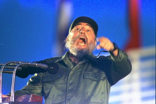 <div class='meta'><div class='origin-logo' data-origin='none'></div><span class='caption-text' data-credit=''>Cuban President Fidel Castro speaking in Camaguay, July 26, 1989. (AP Photo/Charles Tasnadi)</span></div>