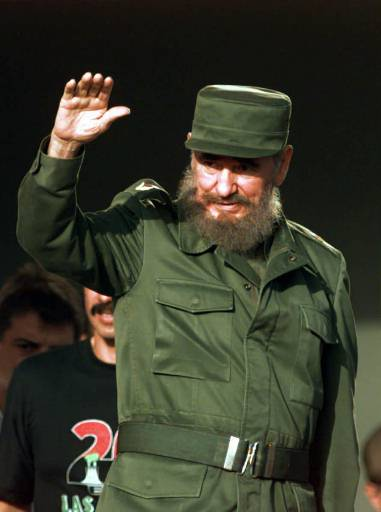<div class='meta'><div class='origin-logo' data-origin='none'></div><span class='caption-text' data-credit=''>Cuban President Fidel Castro waves to the crowd as he arrives in Las Tunas, Cuba Saturday July 26, 1997.(AP Photo/Joe Cavaretta)</span></div>