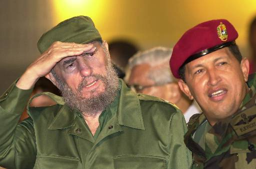 <div class='meta'><div class='origin-logo' data-origin='none'></div><span class='caption-text' data-credit=''>Venezuelan President Hugo Chavez, right, with Cuban President Fidel Castro (AP photo)</span></div>