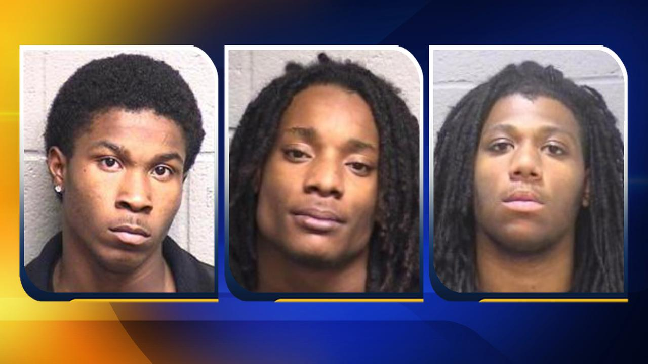 Tyquan Nelson, 18, Rashad Neal, 21, Jonathan McLendon, 19