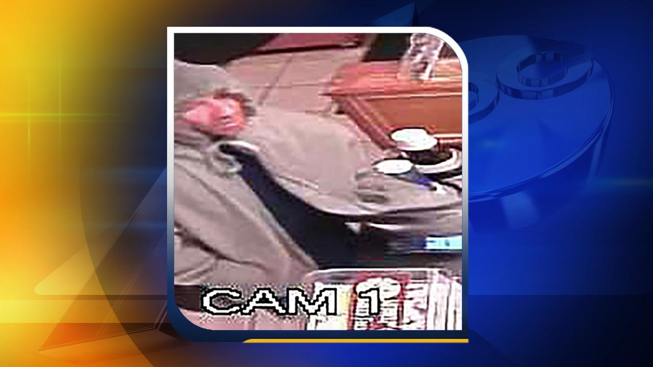 Surveillance photo of the suspect.
