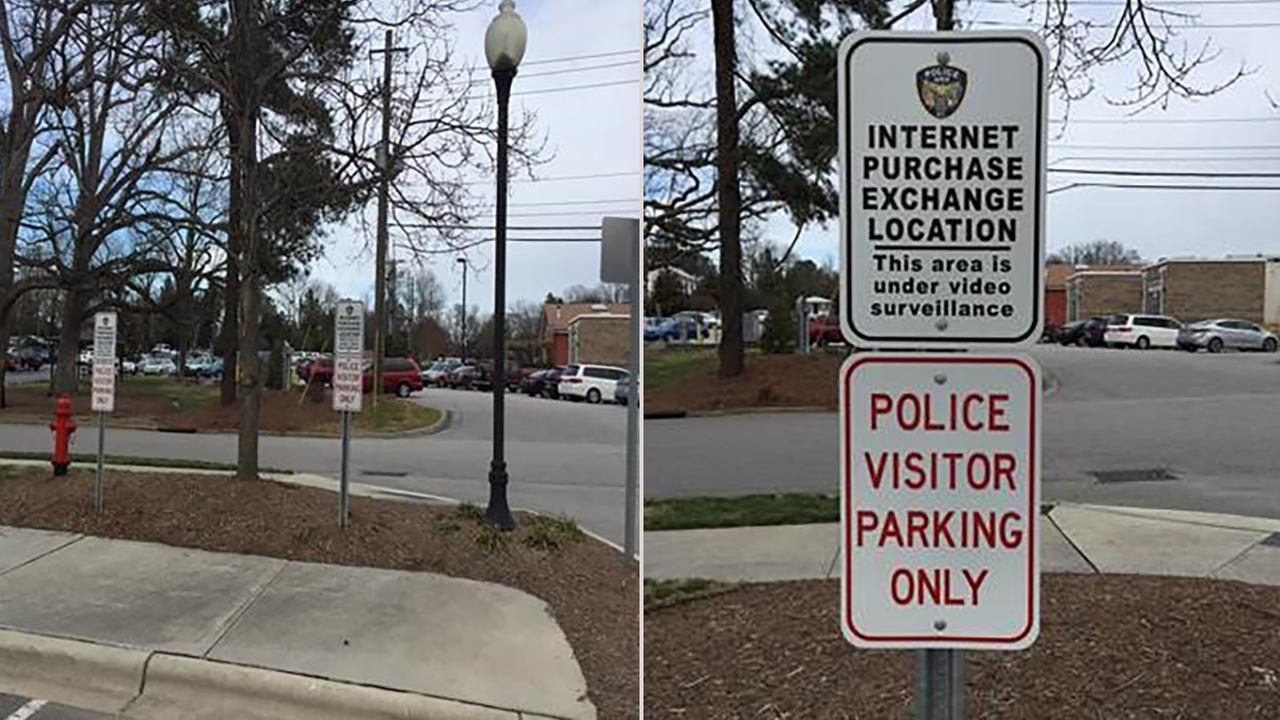 Apex police have designated a spot to meet to conduct transactions of goods bought and sold online.