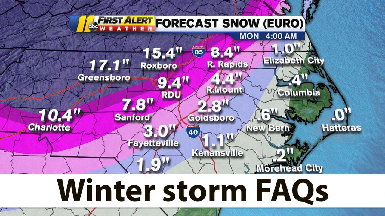 FAQ: We answer your winter storm questions