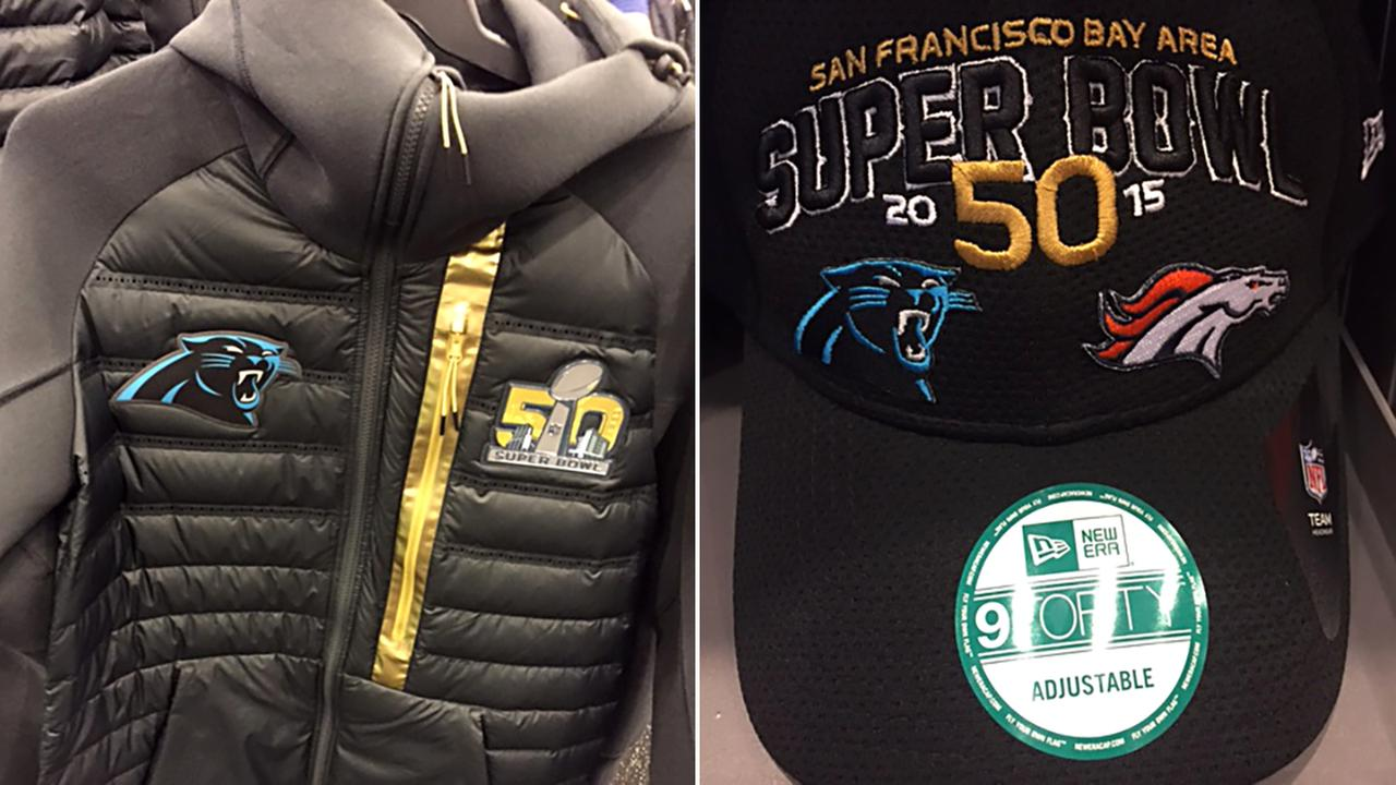 Jackets and hats are some of the items available out in the Bay Area for Super Bowl week.